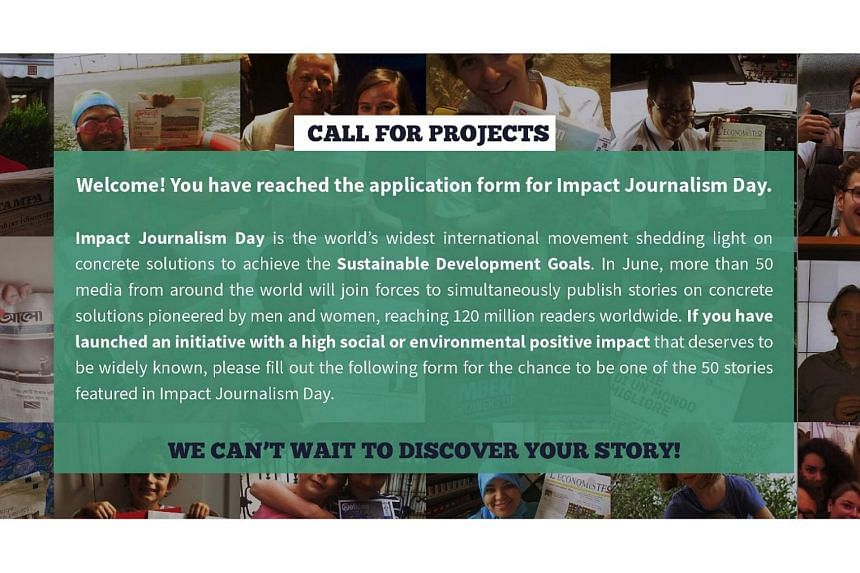 For the sixth year in a row, The Straits Times will join media outlets around the world for Impact Journalism Day, which falls on June 16 this year.