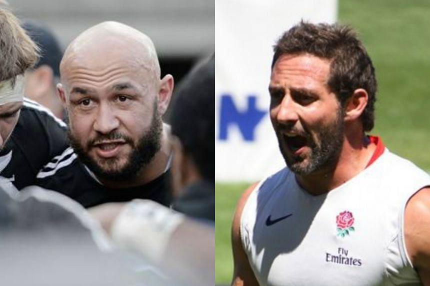 England's Ben Gollings (right) and former New Zealand Sevens captain DJ Forbes have been appointed ambassadors for this year's Singapore Rugby Sevens.