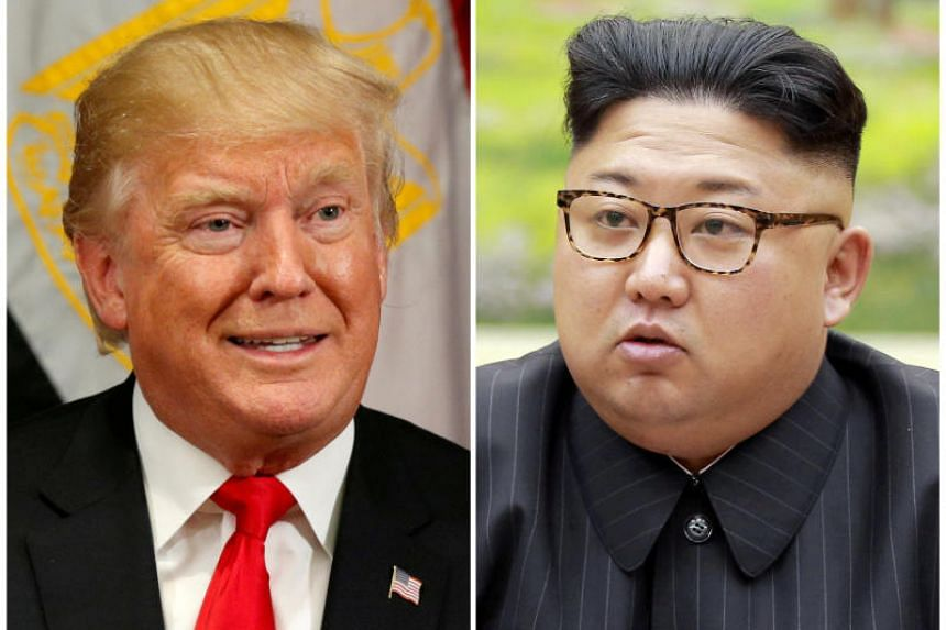 US President Donald Trump (left) accepted a meeting with North Korean leader Kim Jong Un, on March 9, 2018.