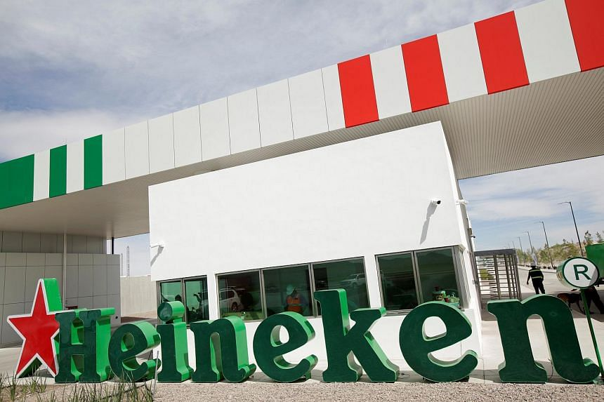 A Heineken sign is seen at a new brewery in Meoqui, in Chihuahua state, Mexico on Feb 27, 2018.