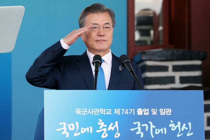 Most of those who felt positive about  South Korean President Moon Jae In pointed to the resumption of talks with North Korea and his security policy as reasons for their support.
