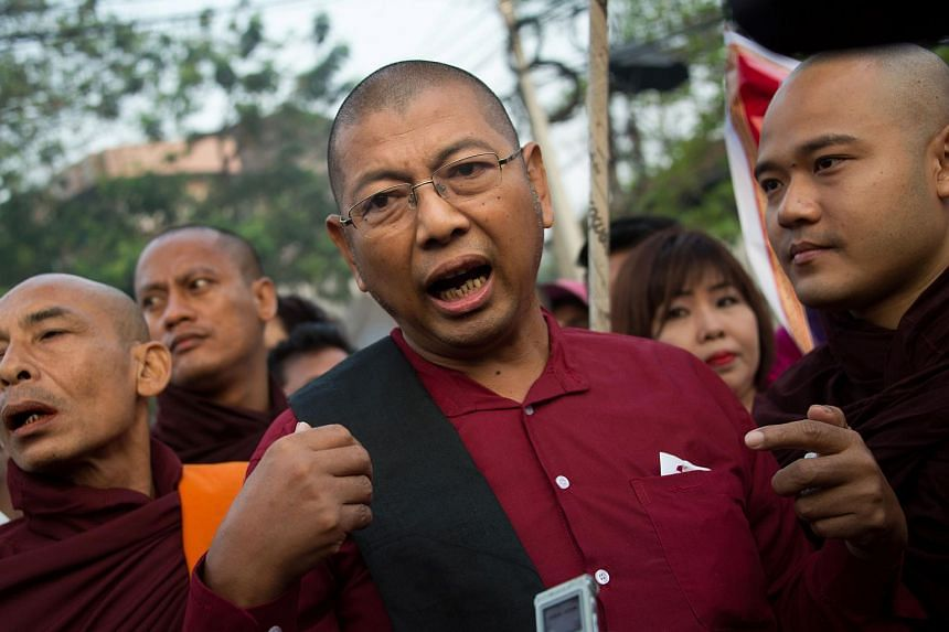 Ultra-nationalist Myanmar monk had served time for inciting unrest in an anti-Rohingya protest in 2016, a rare punishment handed to one of the country's hardline Buddhist clergymen.