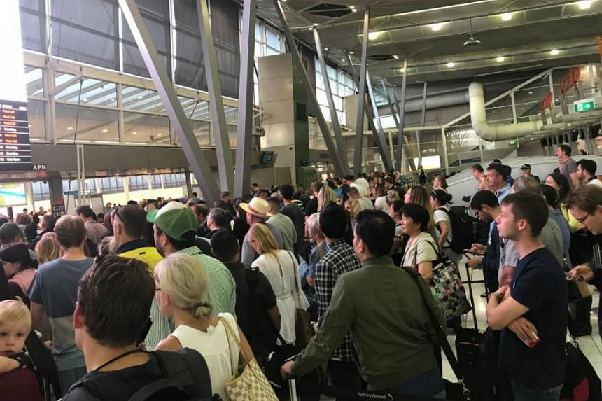 The glitch affected outbound flights from its international terminal and one of its two domestic terminals.