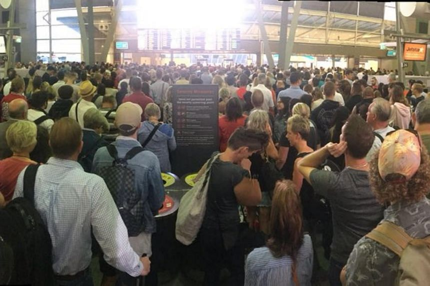 Photos and videos of the airport showed uncomfortably long queues as passengers crowded the terminal as a result of the outage.
