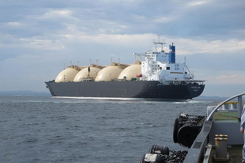 Shell's Northwest Snipe liquefied natural gas (LNG) carrier. While the LNG market has been a high-cost, large-scale business, it is becoming increasingly competitive in the small-scale space, said Shell Energy executive vice-president Steve Hill yest