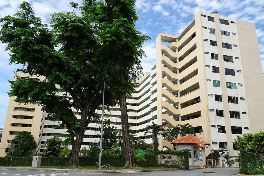 KBD Ventures, a Koh Brothers unit, snapped up Toho Mansion (right) in Holland Road for $120.43 million. Eunos Mansion (below) in Bedok Reservoir Road and Jalan Eunos went for $220 million to a subsidiary of the Fragrance Group. A third site, Goodluck