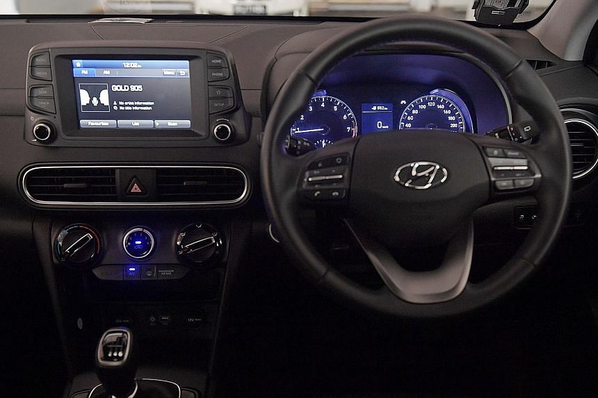 The Hyundai Kona 1.0 is equipped with a 998cc three-cylinder turbo engine and comes with premium features such as multi-function steering wheel, keyless function, cruise control and lane-keeping assist.