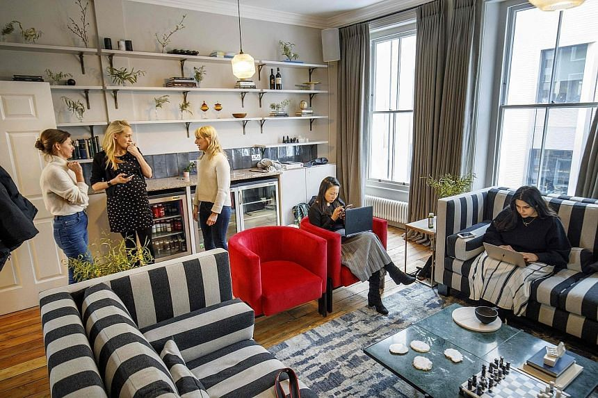 The AllBright has warm decor fusing British chic and Scandinavian design, and a quote by 19th-century British feminist Virgina Woolf at its entrance.