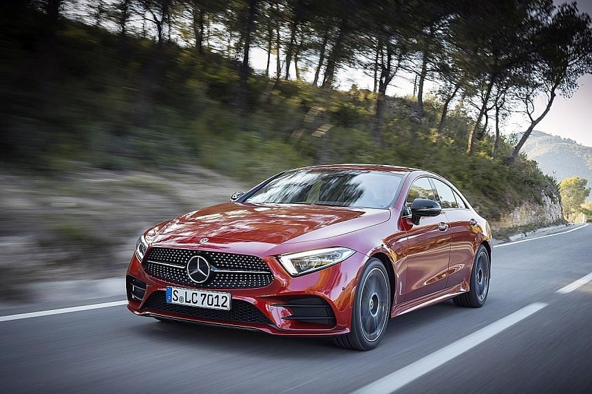 The Mercedes-Benz CLS450 is driven by a turbocharged 3-litre inline-six, among the first petrol inline-six found in modern Mercedes cars.
