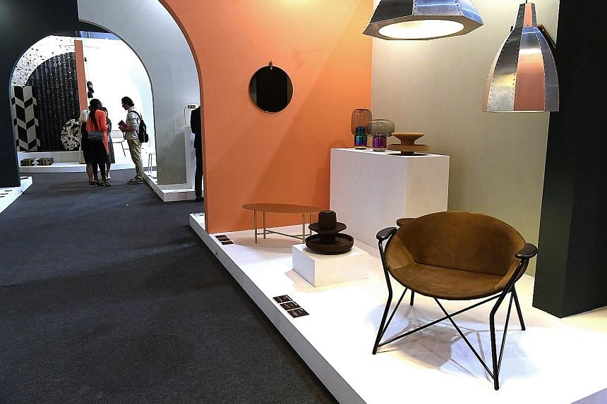 The International Furniture Fair Singapore (above) at the Expo has 374 exhibitors from 26 countries.