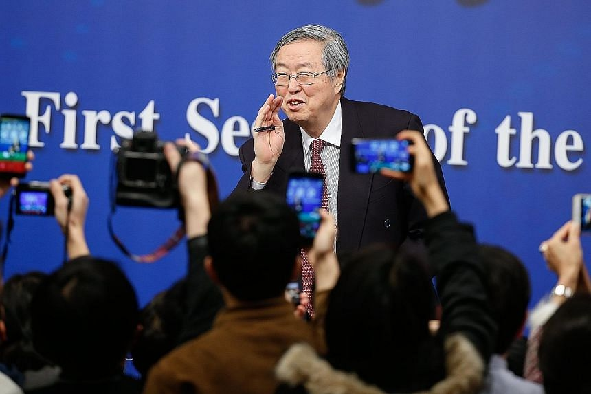 Mr Zhou Xiaochuan, 70, who is China's longest-serving central banker, said that while pursuing higher quality growth, China is likely to reduce its reliance on the old growth model of investment.