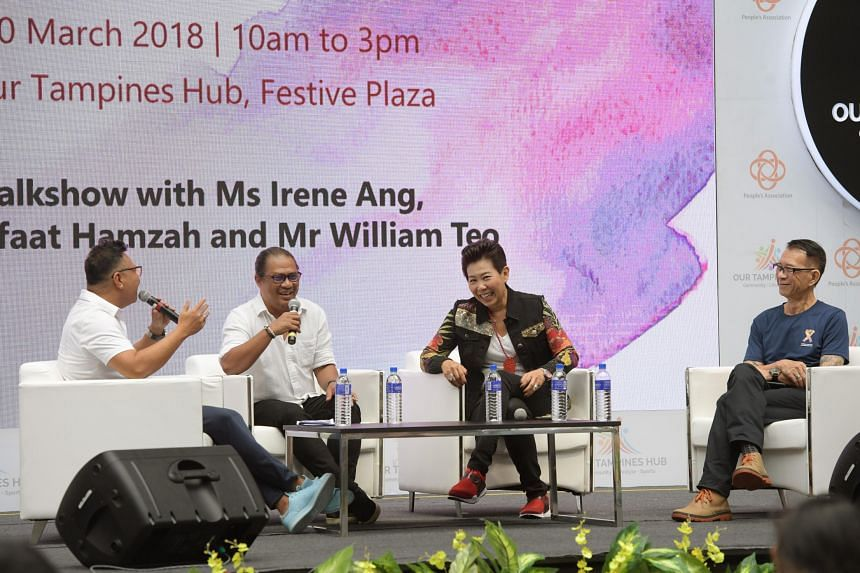Irene Ang shared how she grew up with parents who were addicts at a panel discussion, on March 10, 2018.