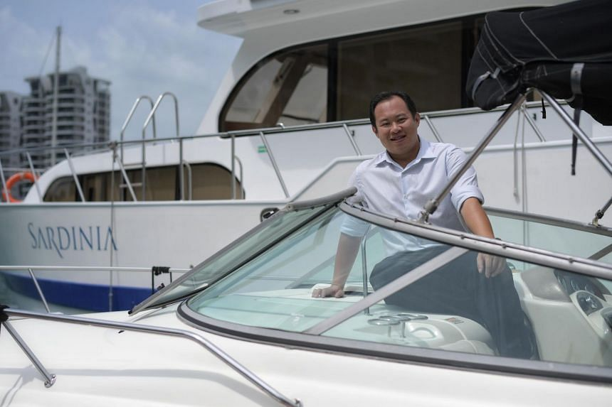 Mr Ng Kah Meng teamed up with a business partner to set up yacht charter firm BOB Marine in 2014 with start-up capital of $150,000 and their own boats as the first assets.