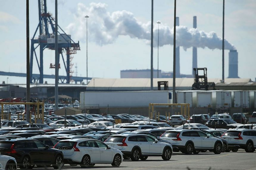 New foreign cars are seen parked at the Dundalk Marine Terminal on March 9, 2018, in Baltimore, Maryland. US.