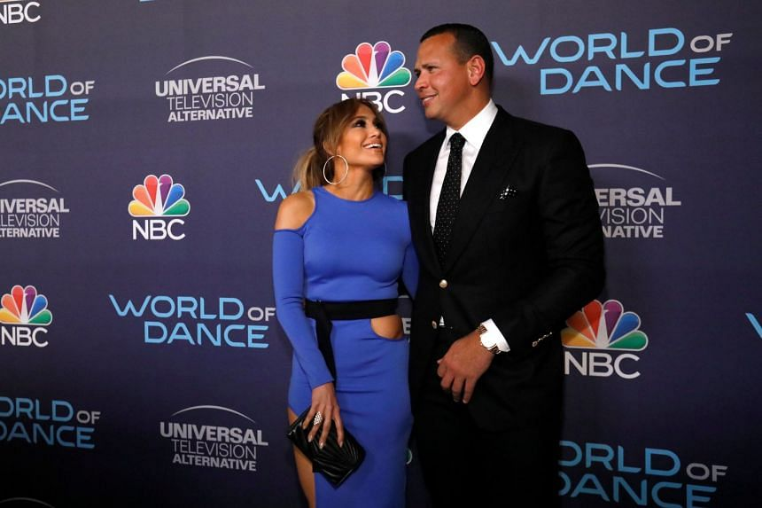Jennifer Lopez and Alex Rodriguez at an event for the television series World Of Dance in West Hollywood, on Sept 19, 2017.