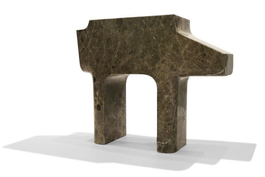 AT-AT, a limited-edition Star Wars-inspired stool and side table sculpted from marble by award-winning home-grown designer Nathan Yong.