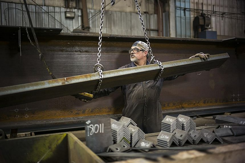 A steel fabrication shop in Ontario, Canada. Mexico and Canada were exempted from US President Donald Trump's steel and aluminium tariffs, pending discussions with these countries to revamp the North American Free Trade Agreement.