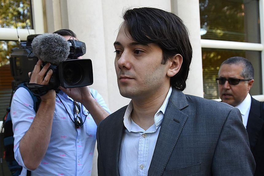 Martin Shkreli, the former Turing Pharmaceuticals executive infamous for suddenly raising the price of an HIV drug, as he arrives last year for jury selection in his federal securities fraud trial.