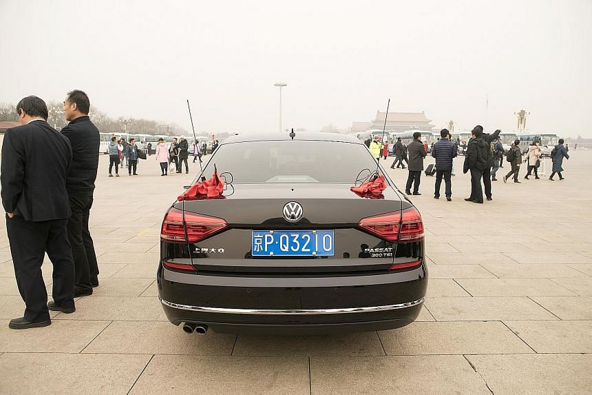Foreign carmakers such as Volkswagen have entered China's electric vehicle market through joint ventures with local partners.
