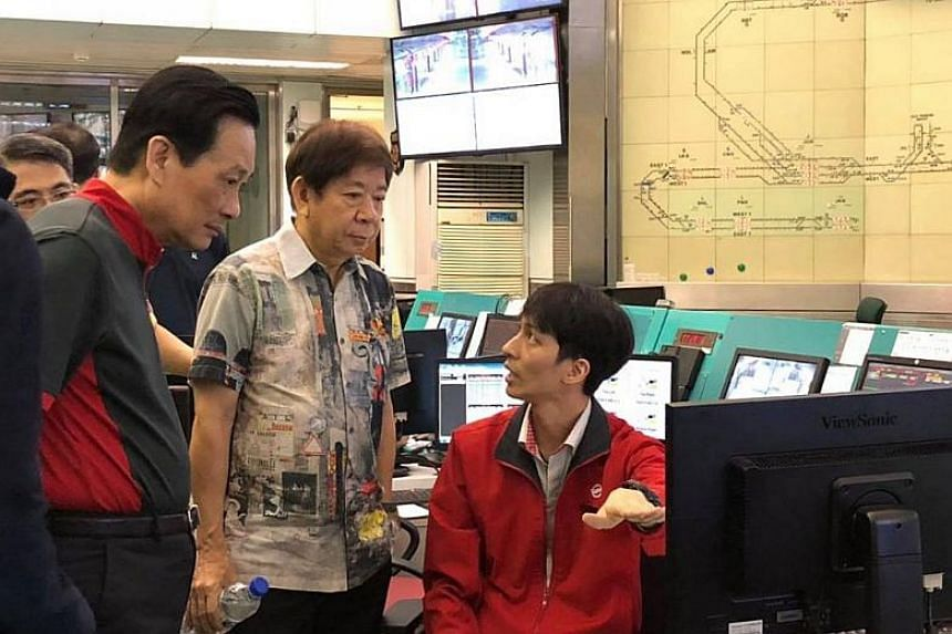 In his Facebook post, Mr Khaw also shared photos of his recent visit to train operator SMRT's Operation Centre, where he observed testing of the new communications-based train control signalling system on the entire NSEWL network.