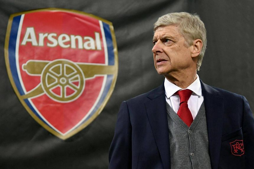 Arsenal's head coach Arsene Wenger reacts during the Uefa Europa League round of 16 soccer first leg match between AC Milan and Arsenal at the Giuseppe Meazza stadium in Milan, on March 8, 2018. PHOTO: EPA-EFE