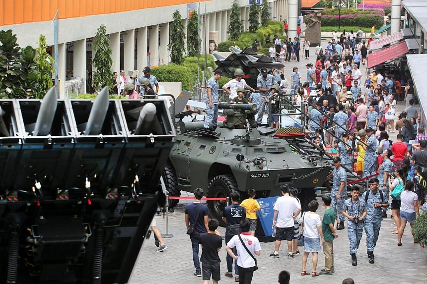 A total of 50,000 people are expected to turn up at the HDB Hub in Toa Payoh over Saturday and Sunday to celebrate RSAF's golden jubilee.
