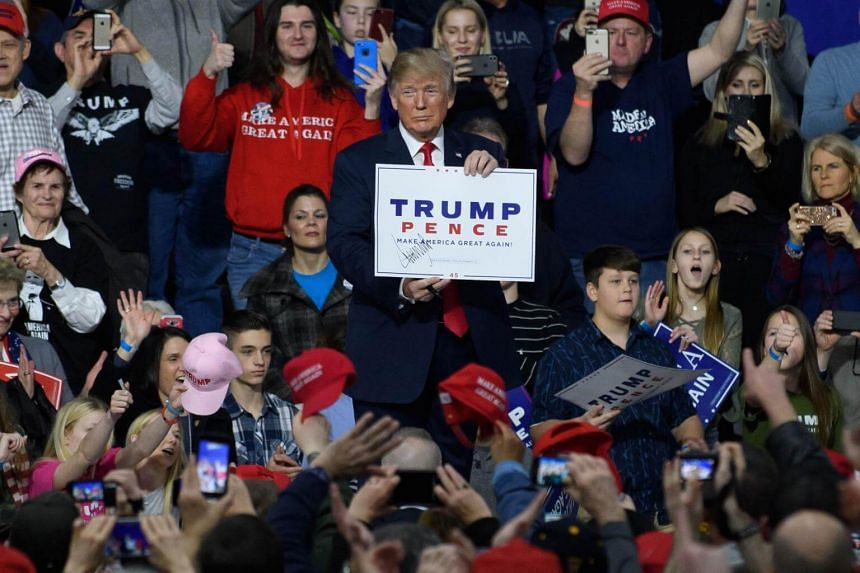 US President Donald Trump dropped a bit of news during the rally, revealing the slogan for his 2020 re-election campaign: Keep America Great. With an exclamation mark, he said.