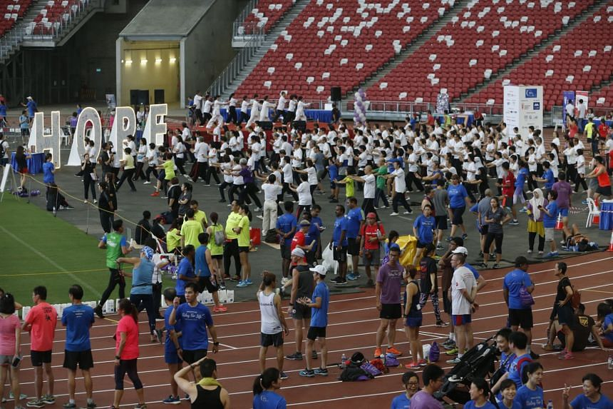 The Singapore Cancer Society-TalkMed Relay for Life saw people forming teams to take part in a 15-hour non-stop relay.