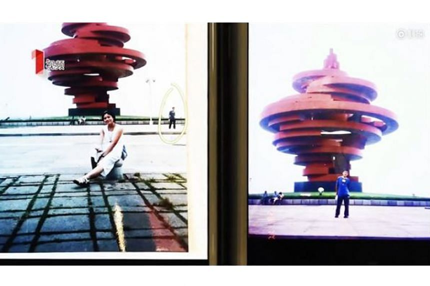 The couple from Chengdu found out that they had both visited the May Fourth Square in the seaside city of Qingdao at the exact same moment in July 2000.