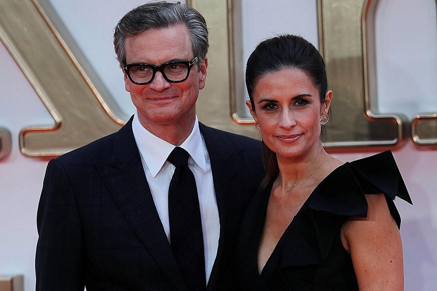 Actor Colin Firth with his wife, Livia Giuggioli (both above), at the world premiere of Kingsman: The Golden Circle in London last September.