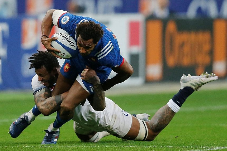 England's Courtney Lawes bringing down Benjamin Fall of France during the 16-22 defeat in Paris last Saturday, which ended Eddie Jones' side's defence of their Six Nations title.