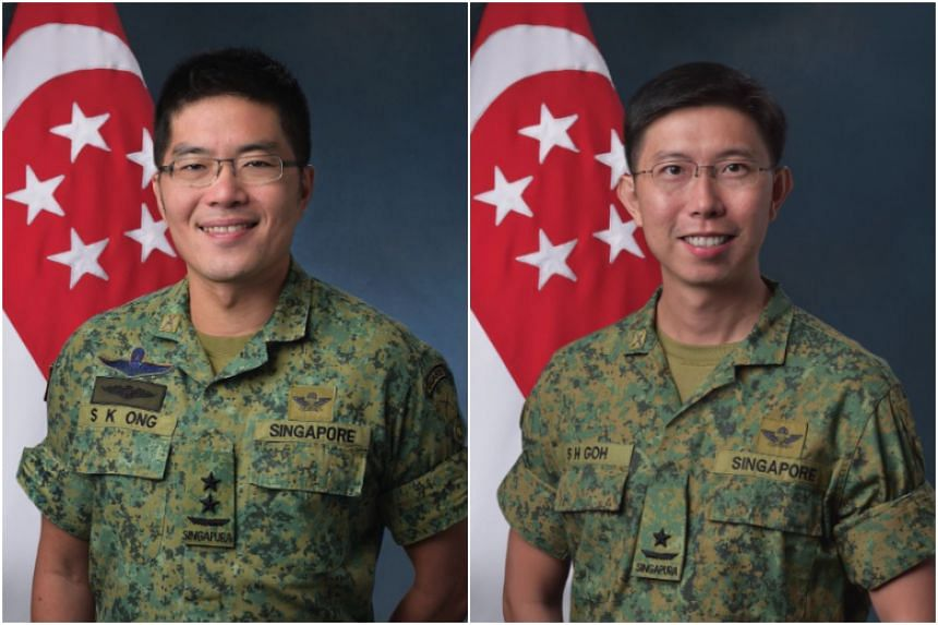 Major-General (MG) Melvyn Ong Su Kiat (left), currently Chief of Army, will take over as Chief of Defence Force on March 23, 2018. Brigadier-General (BG) Goh Si Hou, currently Commander 6th Singapore Division, will take over as Chief of Army on March
