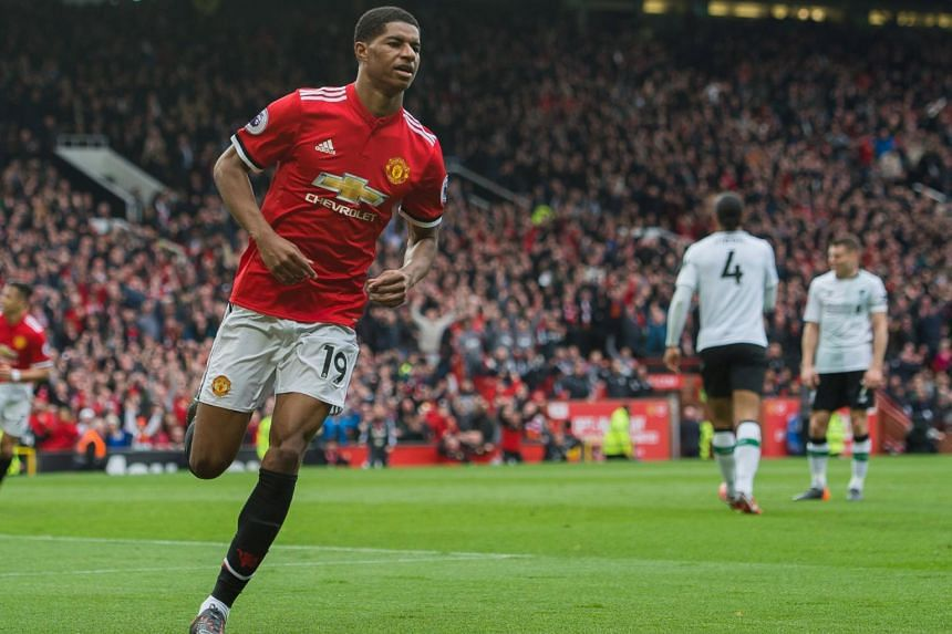In Marcus Rashford's first United start since December, the England forward scored twice as the Red Devils defeated Liverpool 2-1 at Old Trafford in the Premier League on Mar 10.