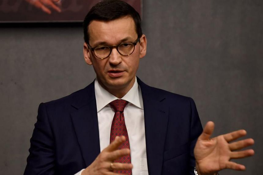 Poland's Prime Minister Mateusz Morawiecki at a visit to the Ulma Family Museum on Jan 2, 2018.