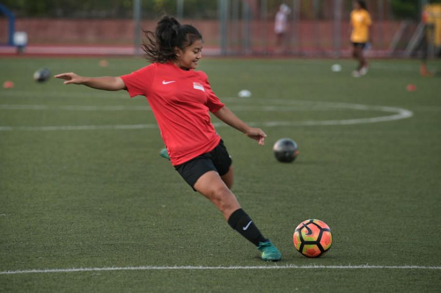 Putri Nur Syaliza may only be 14 but the youngest player to be called up the national women's team is not just a name for the future but the present after scoring on her debut against the Maldives last Monday (March 5).