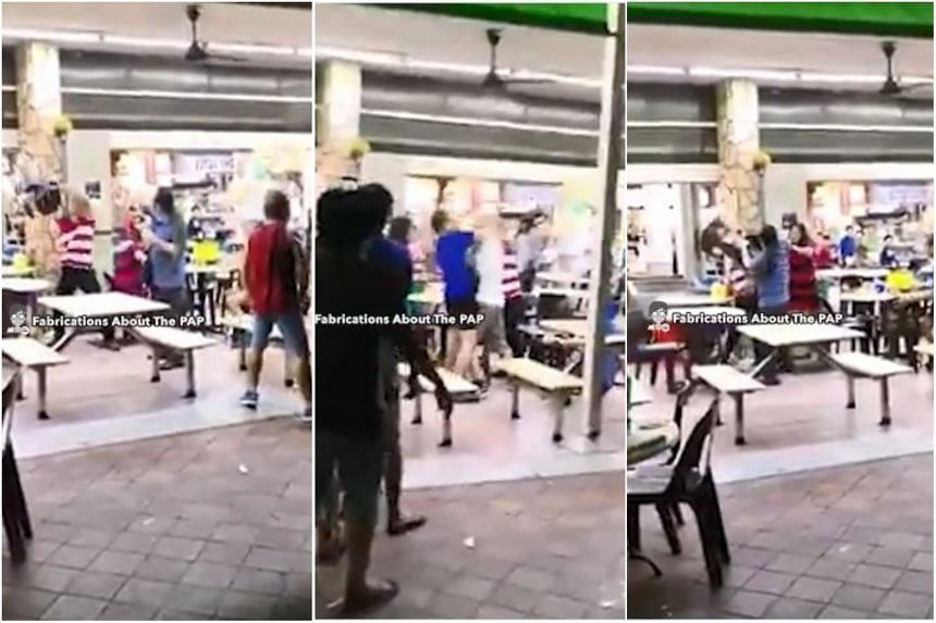 Men in their s fight over woman at yishun coffee shop police