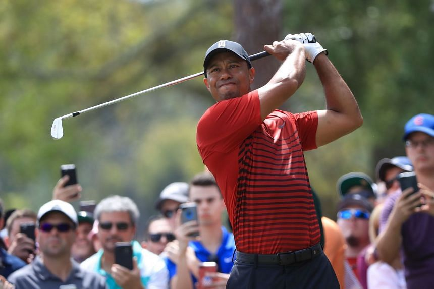 Tiger Woods plays his shot from the second tee during the final round of the Valspar Championship at Innisbrook Resort Copperhead Course, on March 11, 2018.