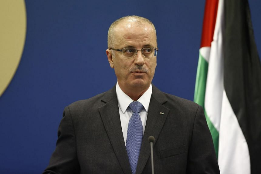 Palestinian Prime Minister Rami Hamdallah, seen in this April 2017 photo, was not injured in the explosion.