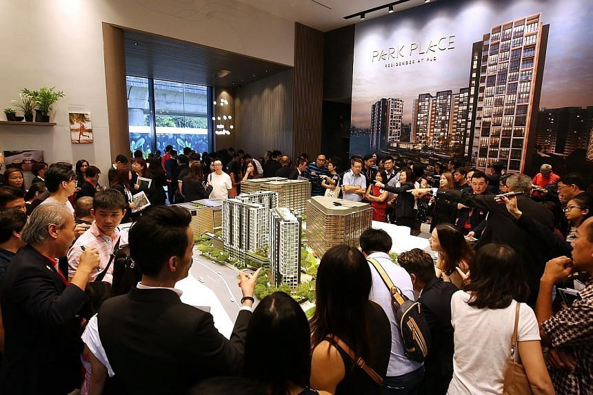 Australian developer Lendlease shifted 210 apartments in the initial launch of Park Place Residences at Paya Lebar Quarter - about half the total units at the 99-year leasehold project - on the first day of sales in March last year. The remaining 219