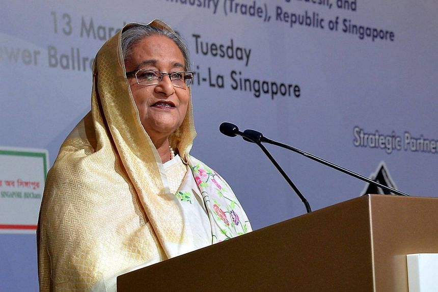 Bangladeshi Prime Minister Sheikh Hasina sweetened the deal by offering land to Singapore businessmen looking to venture into Bangladesh.