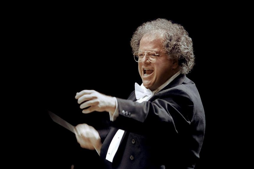 A file photo of MET musical director James Levine in Japan in 2001.