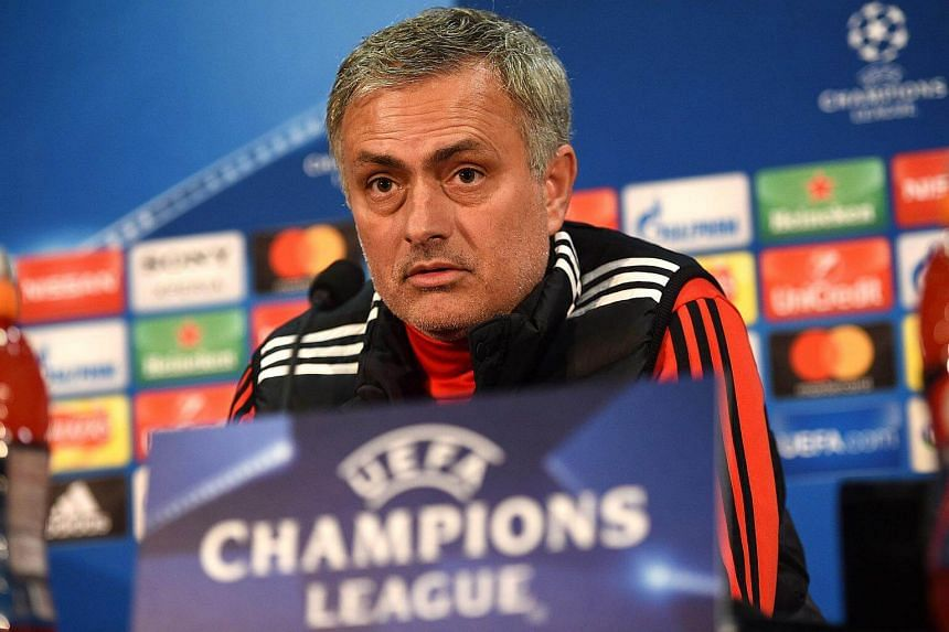Manchester United's manager Jose Mourinho at a press conference following a team training session, at Old Trafford stadium in Manchester, England on March 12, 2018.