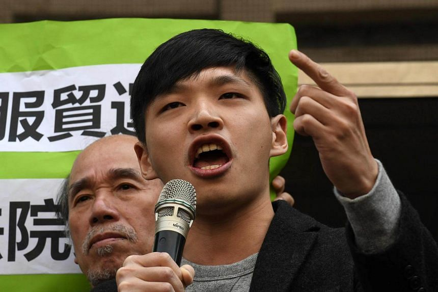 Sunflower leader Chen Wei-ting said Taiwan's transparent legal process was a message to China's President Xi Jinping, who was granted a lifetime mandate as leader.