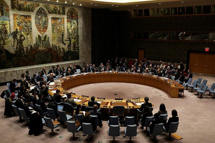 The United Nations Security Council meets to discuss imposing new sanctions on North Korea, in New York, US, on Dec 22, 2017.