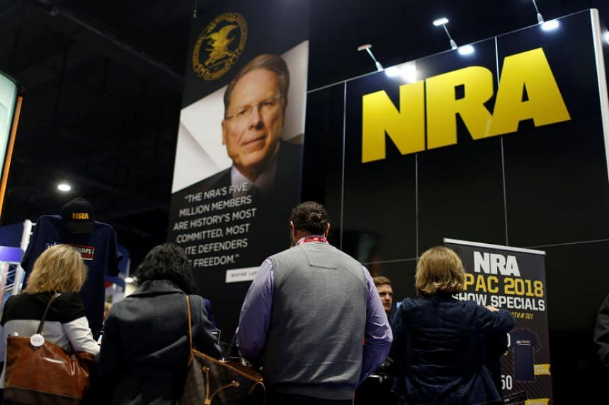 People sign up at the booth for the National Rifle Association at the Conservative Political Action Conference at National HarboUr, Maryland, US on Feb 23, 2018.
