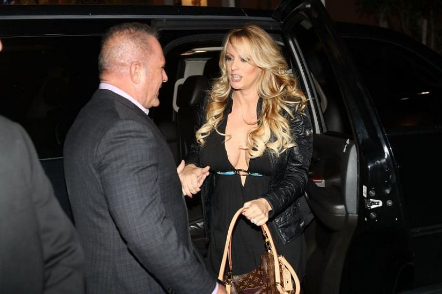 Stormy Daniels arrives to perform at the Solid Gold Fort Lauderdale strip club on March 9, 2018 in Pompano Beach, Florida.