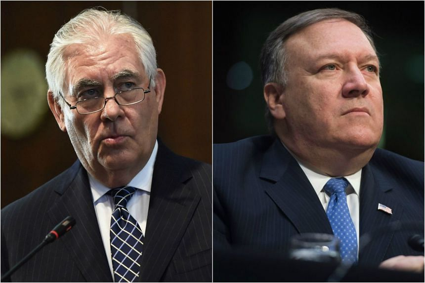 US President Donald Trump confirmed via Twitter that Rex Tillerson (left) will be replaced by Mike Pompeo (right) as the new Secretary of State.