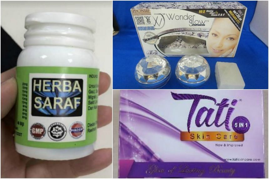 The Health Science Authority said the products - Herba Saraf, Wonderglow Whitening Specialist Super Ultra Glowing Cream and Tati Skin Care 5 in 1 cosmetic set - had potent undeclared ingredients that could cause serious health problems.