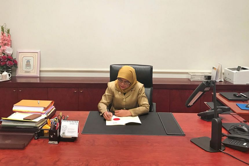 President Halimah Yacob's assent is given to the Supply Bill, which authorises how much the Government can spend in each financial year, which starts on April 1.