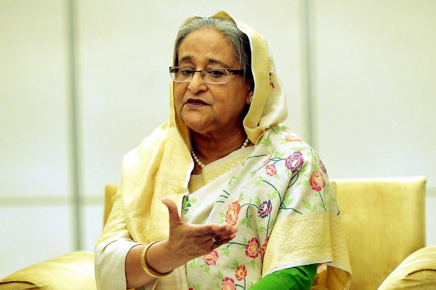 Bangladesh Prime Minister Sheikh Hasina in an exclusive interview with The Straits Times at the Shangri-La Hotel on March 13, 2018.
